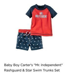 5b5cb4c23 Carter's Swim | Carters 4th July Rashguard Suit | Poshmark